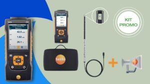 Componenti del Kit combinato Testo 440 per la valutazione e la misurazione della qualità dell'aria